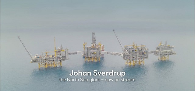 First oil has been achieved on the Johan Sverdrup field
